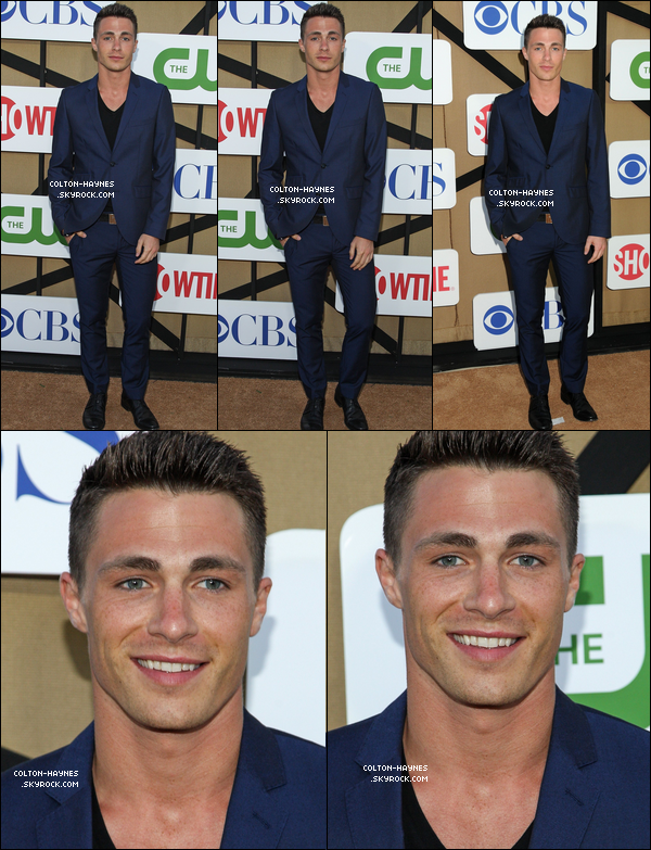 . Colton était attendu au the CW, CBS & Showtime TCA Party à Los angeles, le 29 Juillet. .