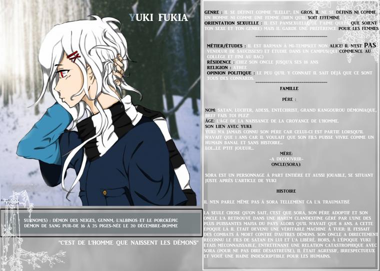"""""""C'est de l'homme que naissent les démons"""" Yuki"""