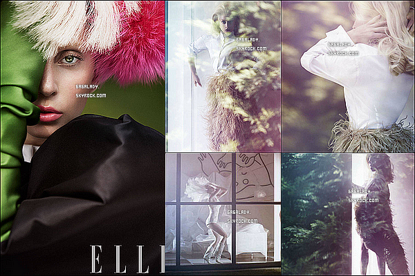 Voici le magnifique photoshoot de Lady Gaga pour le magazine ELLE dont elle fait la couverture.
