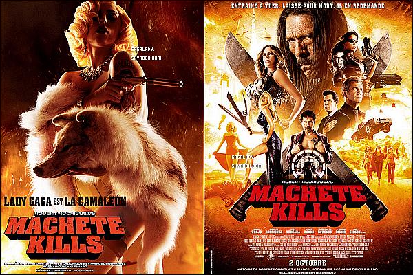 Deux nouvelles affiches pour le film Machete Kills et un nouvel extrait avec Lady Gaga.