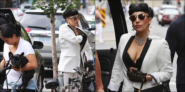 06.07.2014 - Lady Gaga sortant dans son hôtel à Toronto au Canada, j'aime beaucoup sa tenue et les lunettes.   Lady Gaga est au canada pour sa tournée mondiale ArtRave, elle a fait 3 festivals là-bas. Vos avis sur la tenue? sur les cheveux?