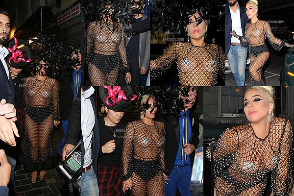 08.06.2015 - Stefani Germanotta sortant de son hôtel à Londres. J'adore clairement cette tenue!  + Lady Gaga et Tonny Bennett ont rencontré le prince Harry après leur concert qui était pour récolté des fonds pour les enfants.
