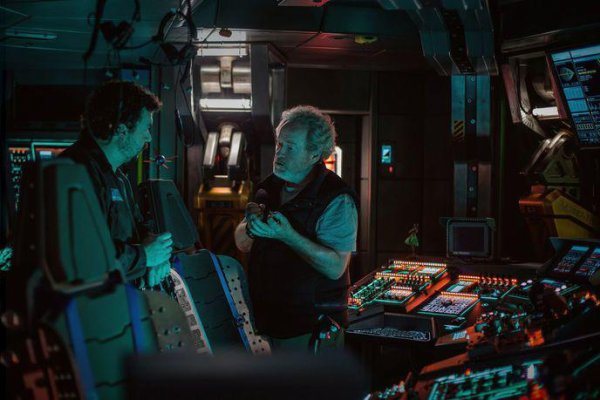 Sur le tournage avec Ridley Scott...