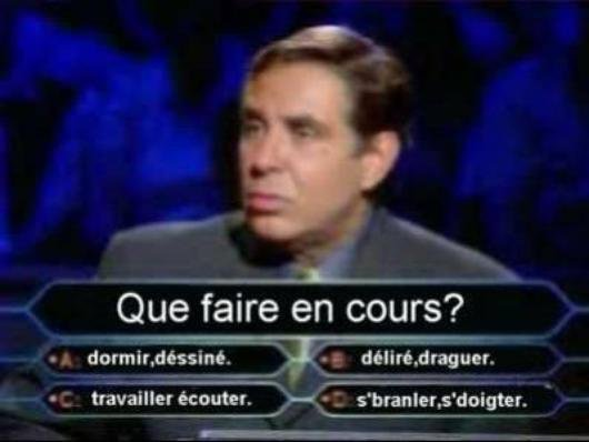 question de cours à l'école