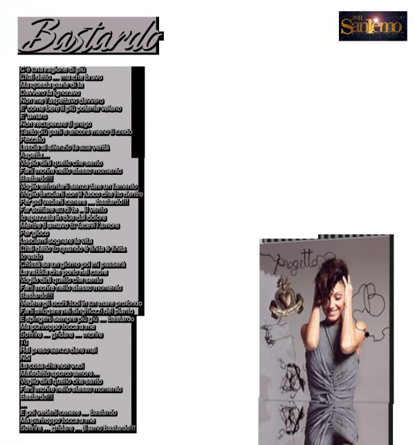 """""""Bastardo"""" , tube du dernier album Progetto B"""