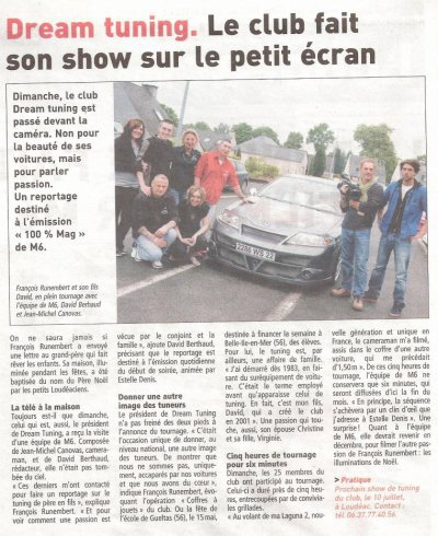 Dream Tuning fait son show sur 100% MAG