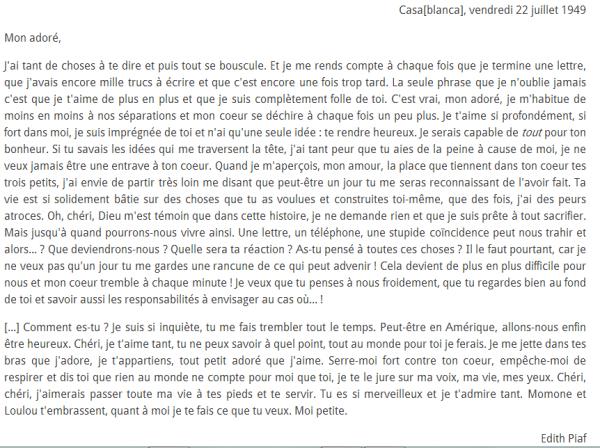 Une lettre d'amour adorable