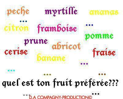 quel es ton fruis préférer ?