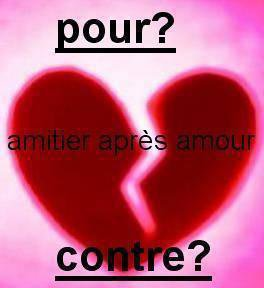 pour ou contre un amitier après un amour ?