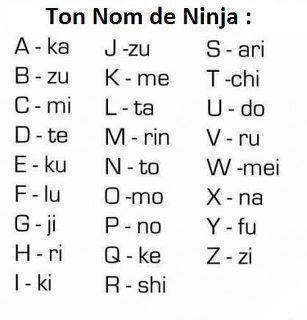 ton nom de ninja