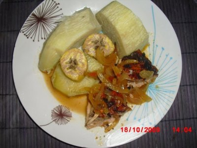 Igname Patate Douce banans plantain