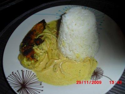 Blanc de Poulet sauce Curry