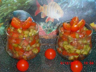 Verrine Tomate Concombre