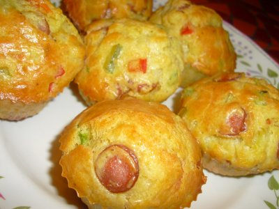 Cake Fromage Poivron Saucisse Oignon