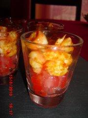 Verrine Tomate Crevette