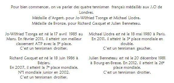 Richard Gasquet, Julien Benneteau, Jo-Wilfried Tsonga et Michael Llodra