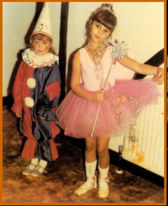 Victoria little sister and victoria as a fairy princess when they were children