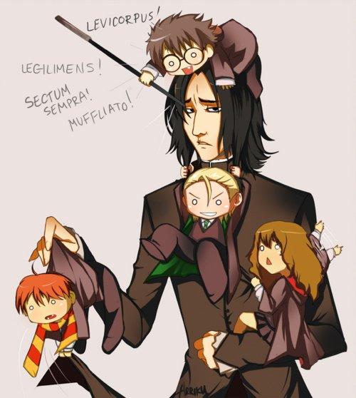 le professeur Rogue torturé par des enfants