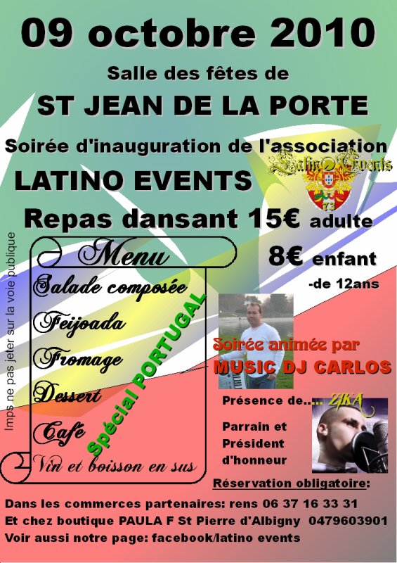 soirée d'inauguration de l'association LATINO EVENTS