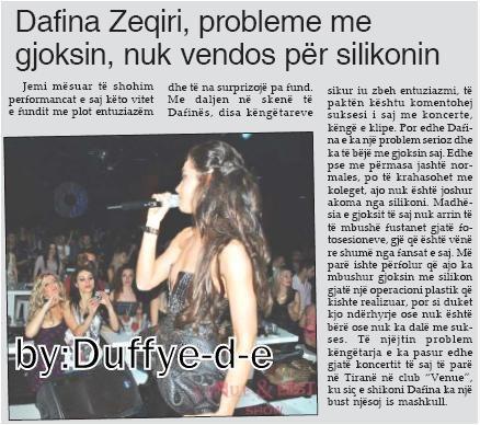 Dafina Zeqiri , probleme me gjoksin , nuk vendos per silikonin.