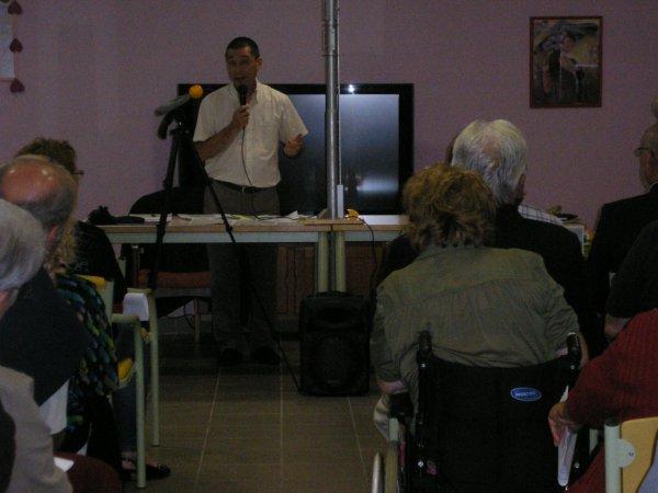 Réunion d'information à la résidence des bleuets à Bourg les Valence !!!