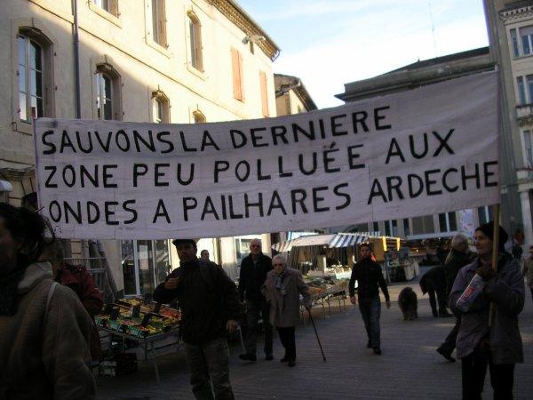 Mobilisation en Ardèche pour les EHS !!!