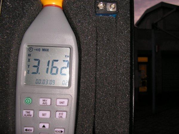 Mesures de rayonnement à L'Isle d'Abeau (38)