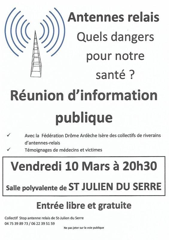 Antenne relais à Saint Julien du Serre (07) à proximité d'Aubenas !!!