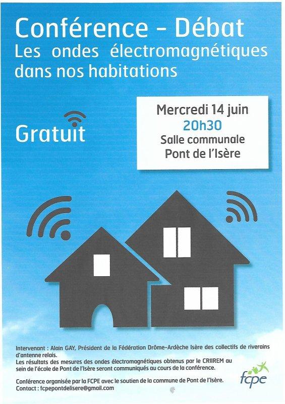 Conférence-Débat à Pont de l'Isère (26) le 14 juin !!!