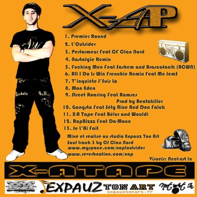 X-A TAPE / Fucking man feat Brascofonik and Sashem (2011)