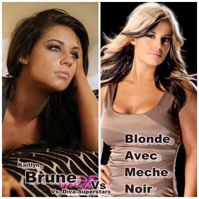 brune vs blonde avec meche noir kaitlyn vs de star. Black Bedroom Furniture Sets. Home Design Ideas