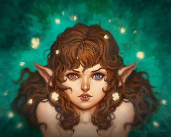 L'Elfe Aux Yeux Vairons.