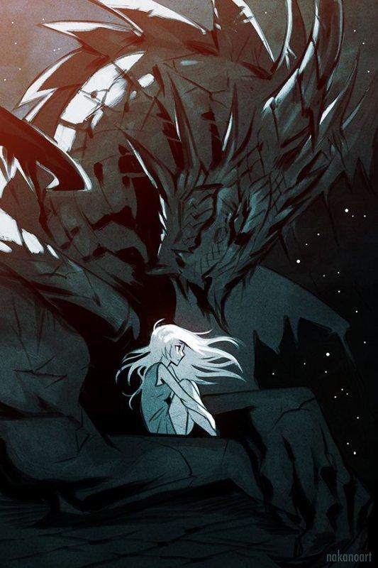 La Gamine Désespérée Depuis La Disparition De Son Fidèle Dragon.