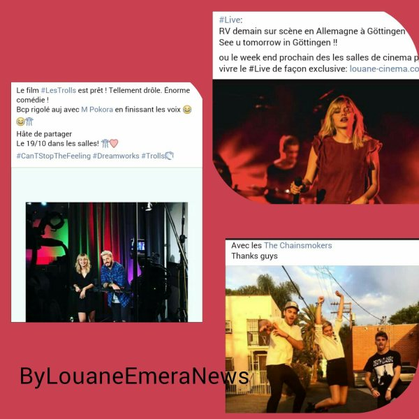 News Louane  Septembre-Octobre 2016