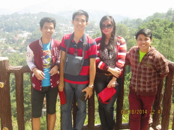 With my Schoolmates at Baguio, City Philippines