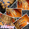 pose de verni + nail-art...! basic...