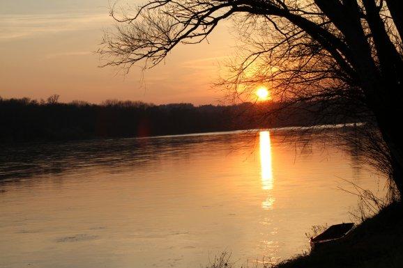 Coucher de soleil à Ousson sur Loire
