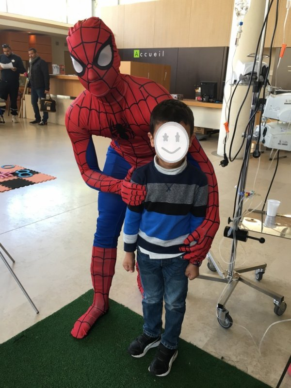 costume spiderman & reine des neiges a la location