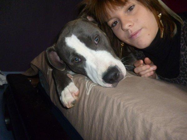 Moi et le chien de mon Homme
