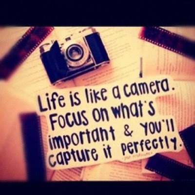 ♥Focus on whats important, everything else shall follow :)