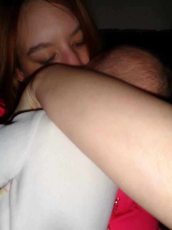 moi et mon bebe d amour <3