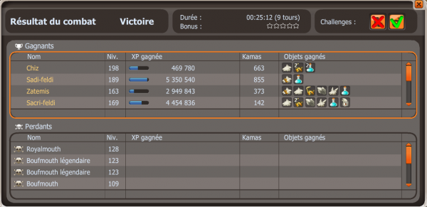 Fin du week end xp ! Suite de la team