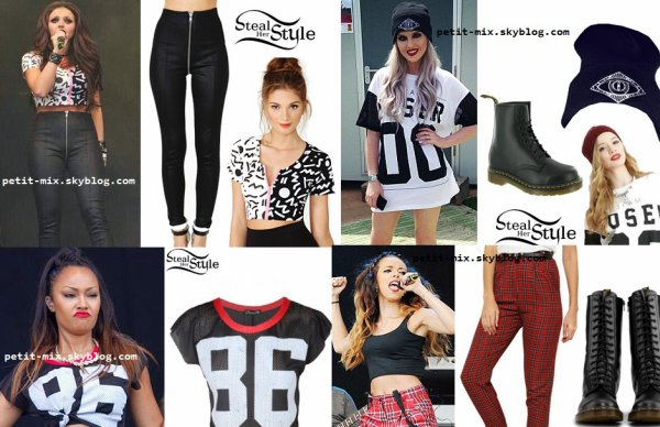 little mix tenue pour l'évenement T In The Park