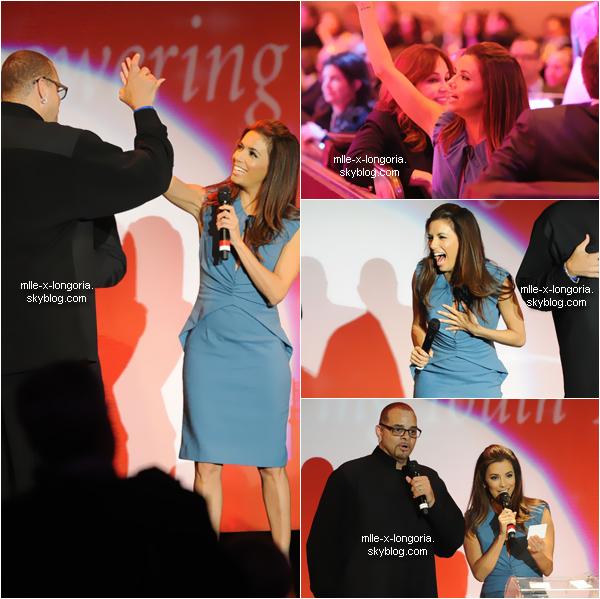 Eva Longoria était présente à la célébration annuelle de l'organisation caritative, elle était parmis les stars à assister au  'Fulfillment Fund's 2011 Stars Gala' à Beverly Hills, en Californie mardi soir (1er Novembre).