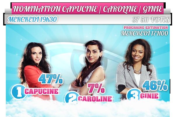 - ESTIMATION : NOMINATION CAPUCINE / CAROLINE / GINIE  -