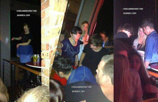 """Les gars étaient hier soir au """" Today Show """" , à Sydney ( Australie )."""