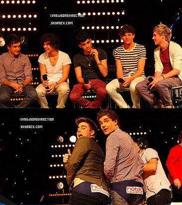 """Les One Direction étaient aujourd'hui ( 11/04 ) à la radio """" Hot 30 Countdown """" ."""