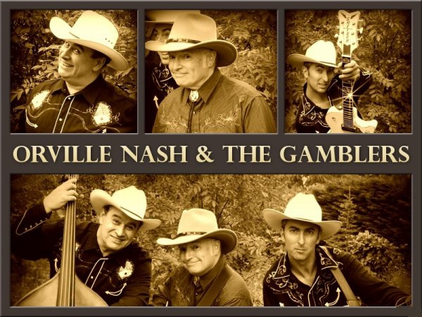 Orville NASH & The Gamblers plaquette pub