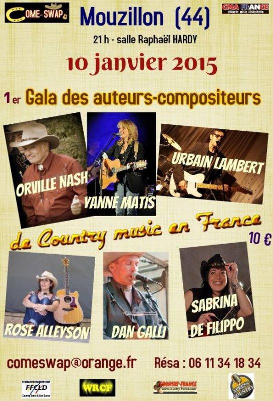 Gala des auteurs Compositeurs musique Country en France
