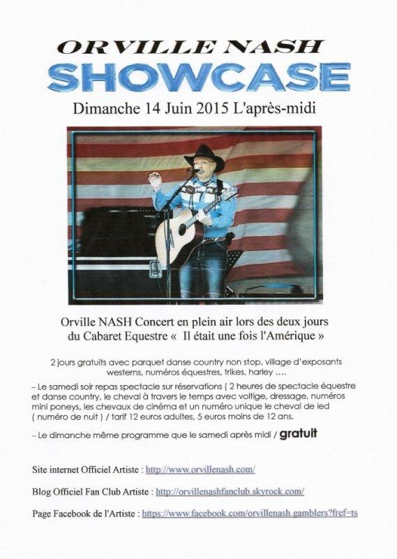Orville NASH en Showcase au Cabaret Équestre de La Chapelle St Sauveur 44370